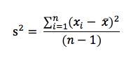 Formule de la variance