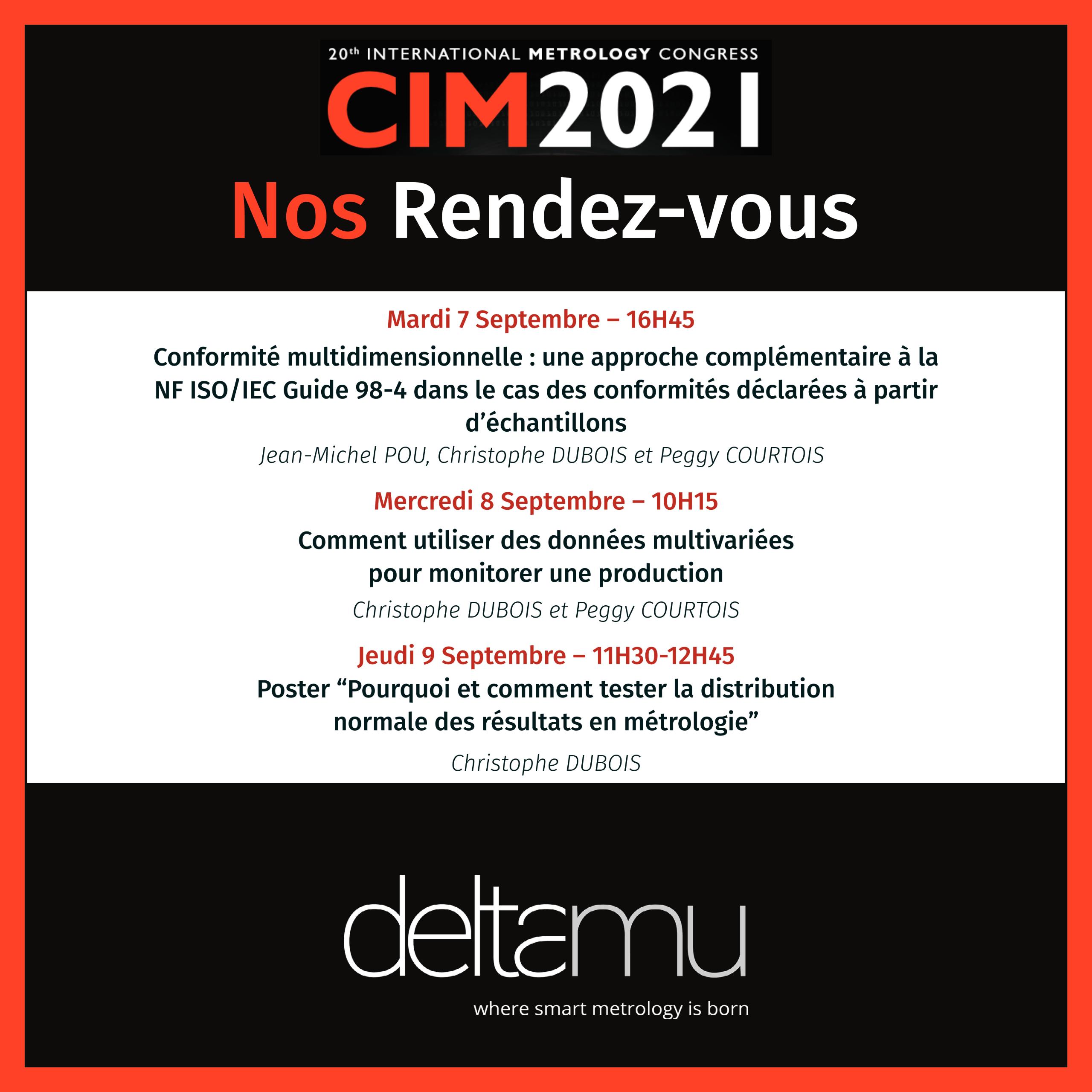 les rendez-vous deltamu au CIM 2021